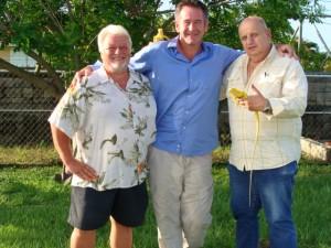Tom Crutchfield (L), Nigel Marven (C), Ray Van Nostrand, Sr.